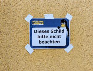 Chemnitzer Linuxtage 2018 Schild